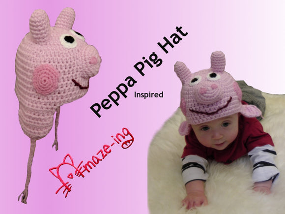 Baby Peppa Pig-Inspired Hat