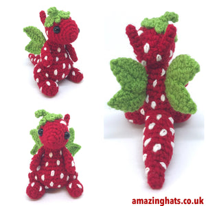 Yarnuary Strawberry Dragon