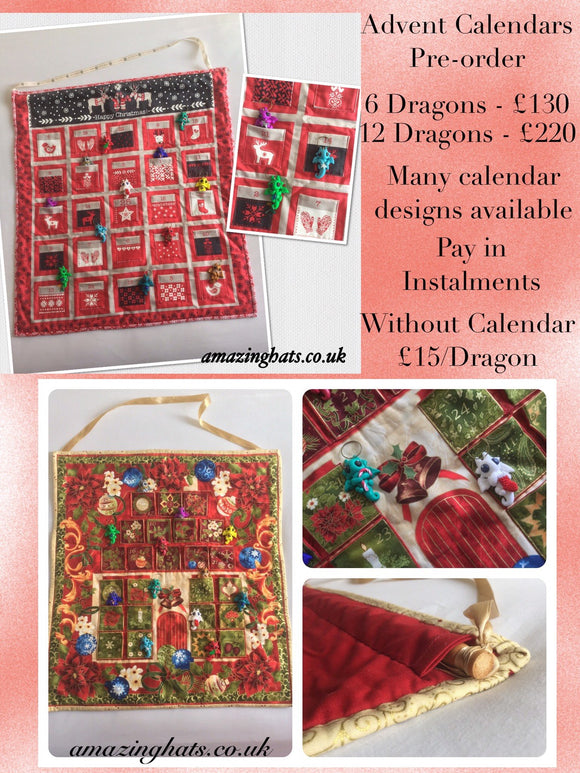 Dragon Tree Ornaments set of 12 & Advent Calendar PRE-ORDER!