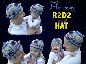 Baby R2-D2-Inspired Hat