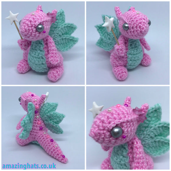 Yarnuary Fairy Dragon with flower