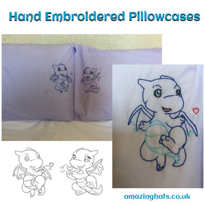 Hand Embroidered Pillowcases
