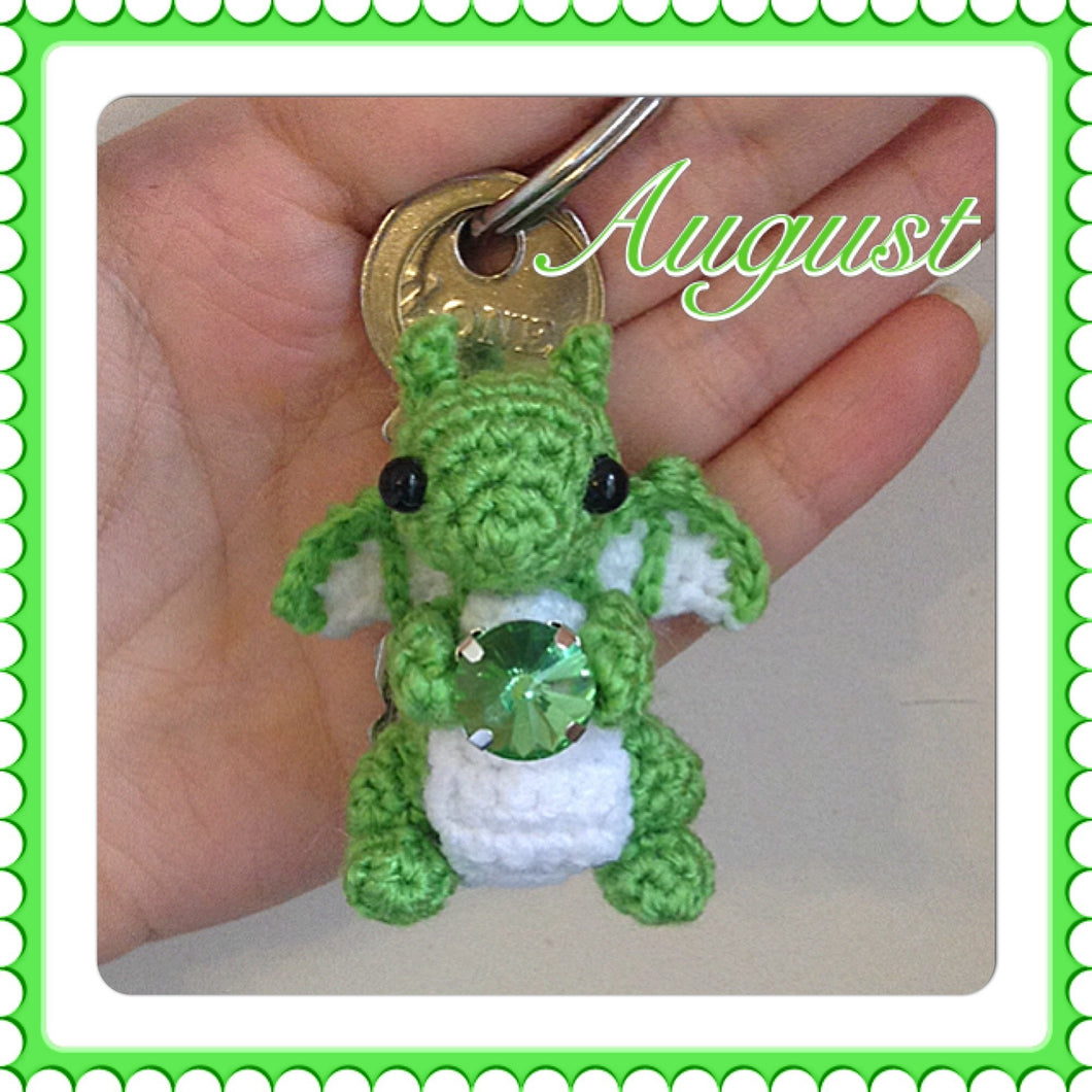 Tiny August Birthstone Dragon