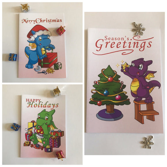 1x Dragon Christmas Card