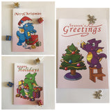 Dragon Christmas Cards x9 Pack