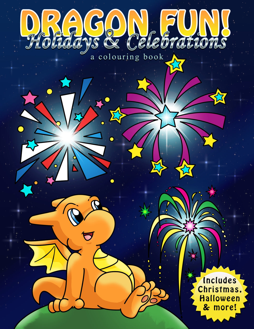 Digital Dragon Holidays & Celebrations  Colouring Book