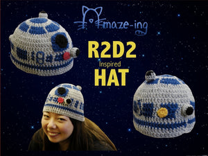 R2-D2-Inspired Hat