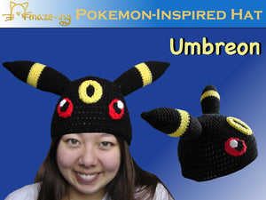 Umbreon-Inspired Hat with Eyes