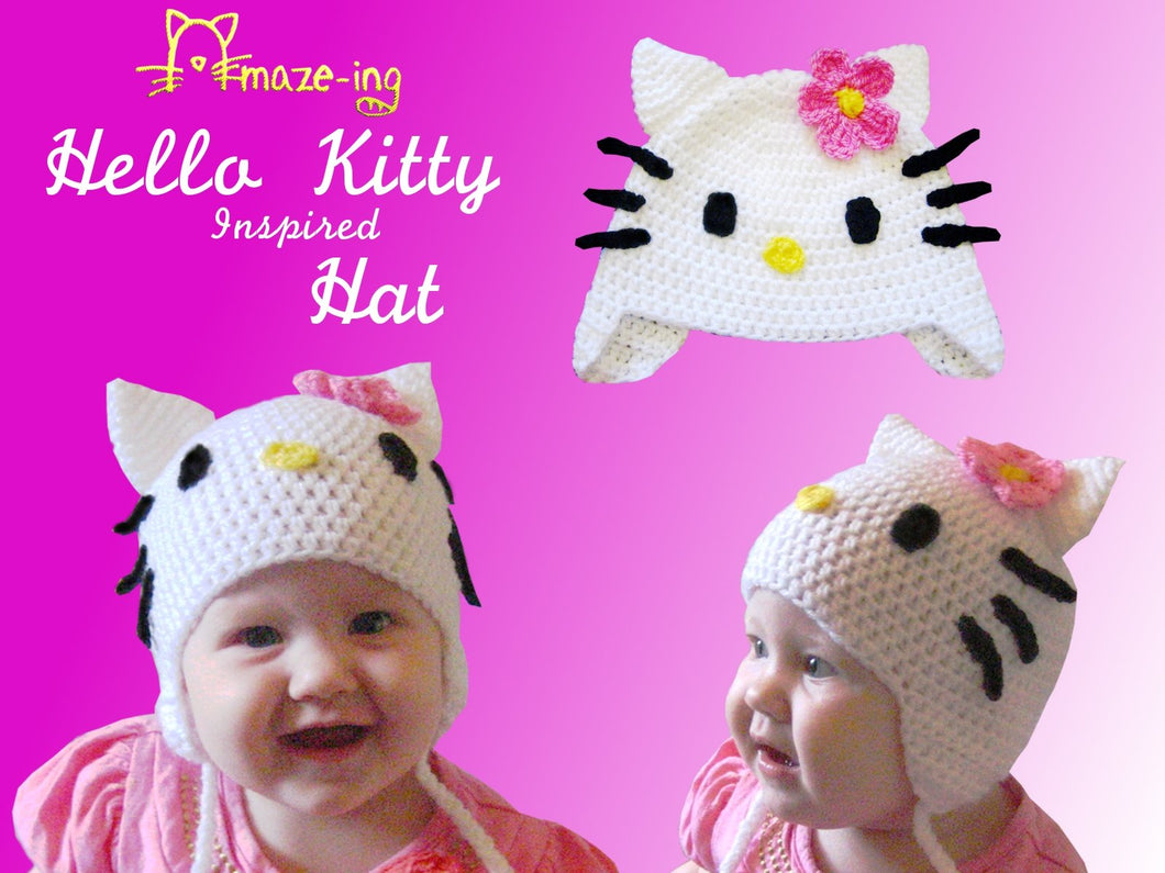 Baby Hello Kitty-Inspired Hat