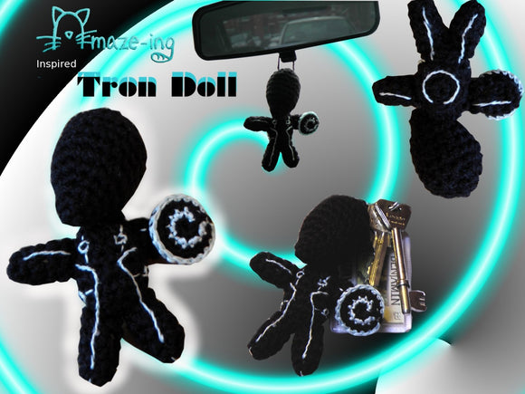 Tron-Inspired Doll/Car Dangle