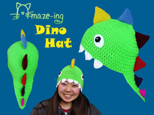 Dinosaur Hat with Teeth
