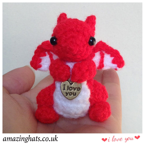 Tiny Dragon w/I Love You Charm