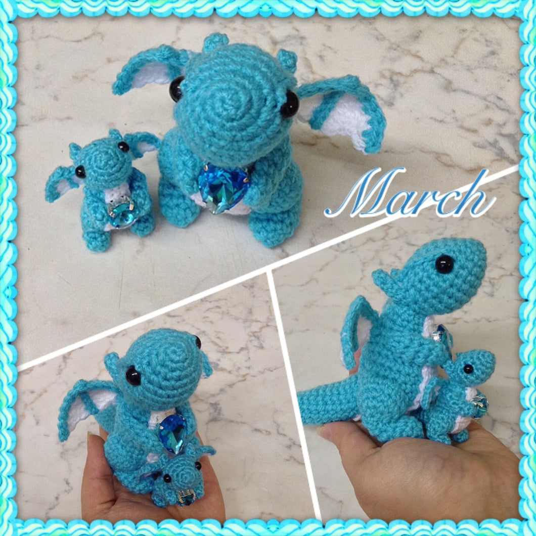 Tiny March Birthstone Dragon