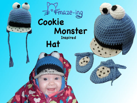 Baby Cookie Monster Hat