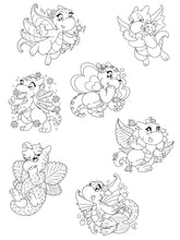 Load image into Gallery viewer, Digital Yarnuary Dragons Colouring Pack