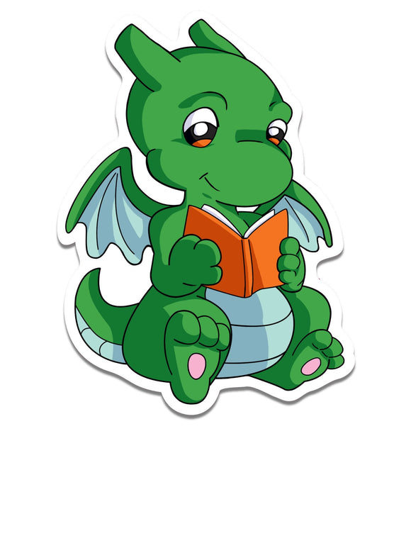 Reading Dragon Sticker