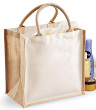 Load image into Gallery viewer, Jute Tote Bag