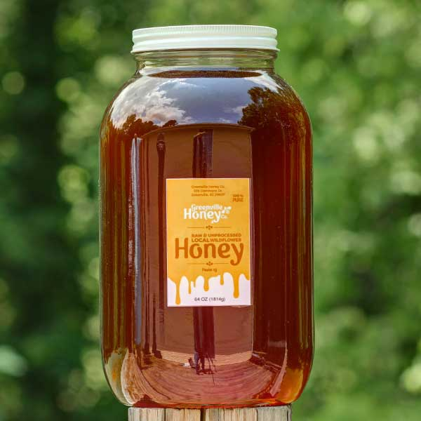 Wildflower-light, fruity taste; 80 oz. (Half Gallon) Jar - SC Honey