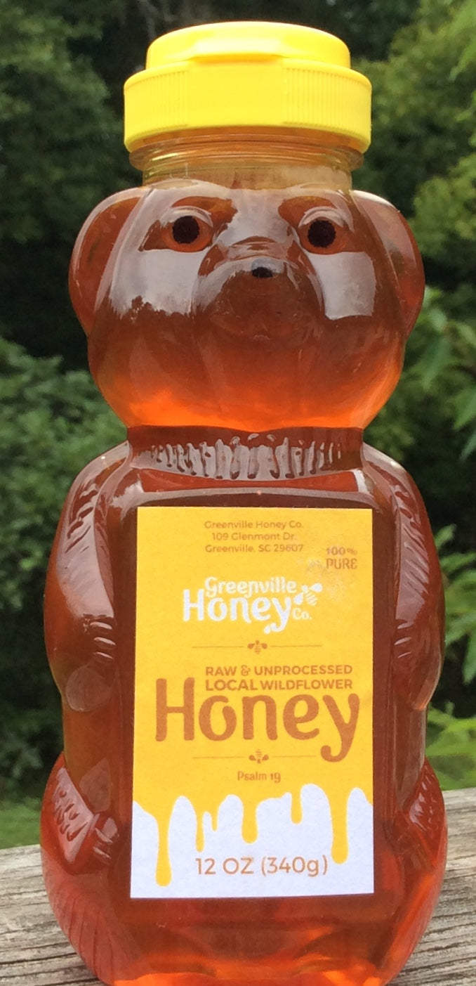 12 oz. Honey Bear - Local Greenville, SC Honey