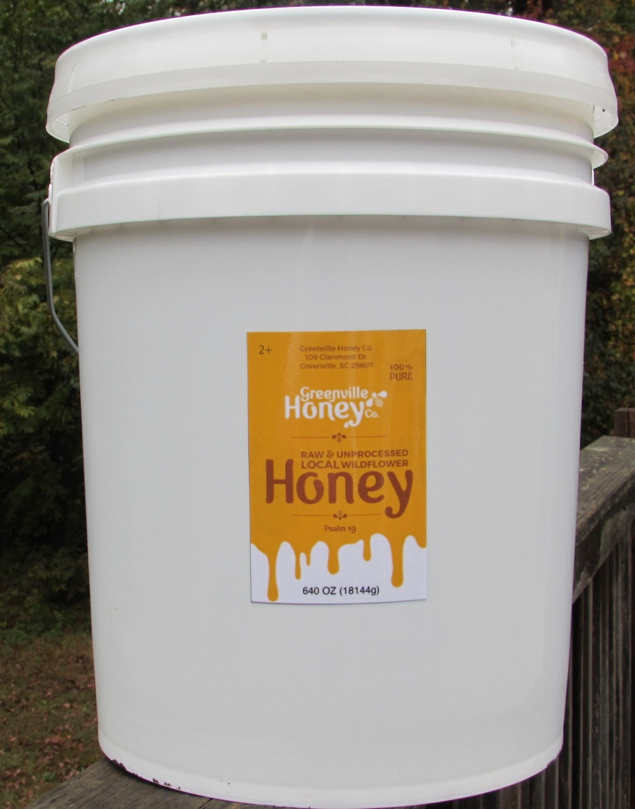 5 gallon pail wild flower honey (local)