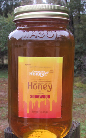 40 oz. Sourwood Honey (certified)