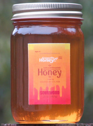 20 oz. Sourwood Honey (certified)