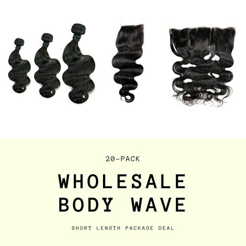 Brazilian Body Wave Short Length Wholesale Package - essencenoire