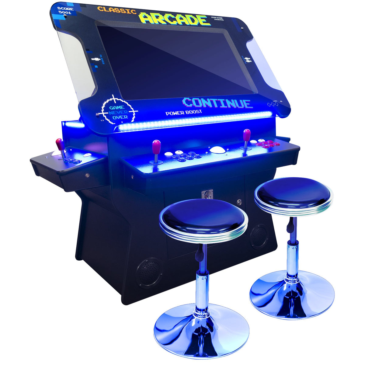 "2 Player 3 Sided Tilt-Screen Cocktail Arcade with Trackball | 1162-4500 Classic Games | 26""-32"" LCD Screen 