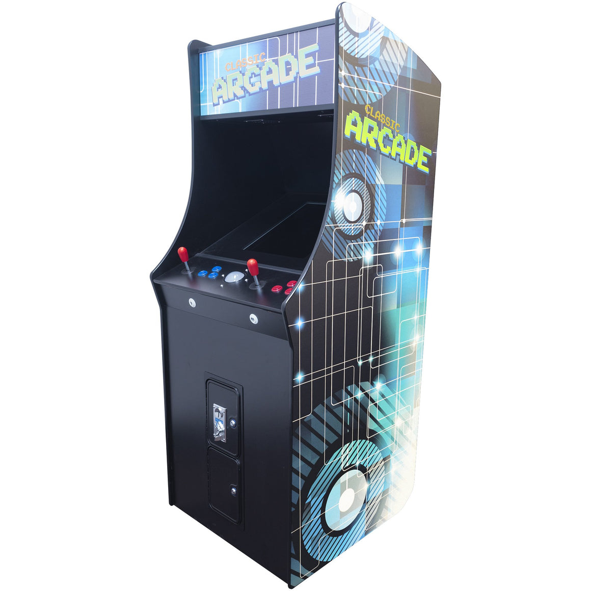 "2 Player Stand Up FULL SIZE | 60 Games | 19.5"" Classic Video Game Arcade 