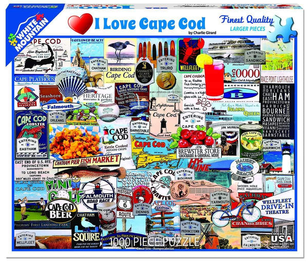 """I Love Cape Cod"" Jigsaw Puzzle (1000 piece)"