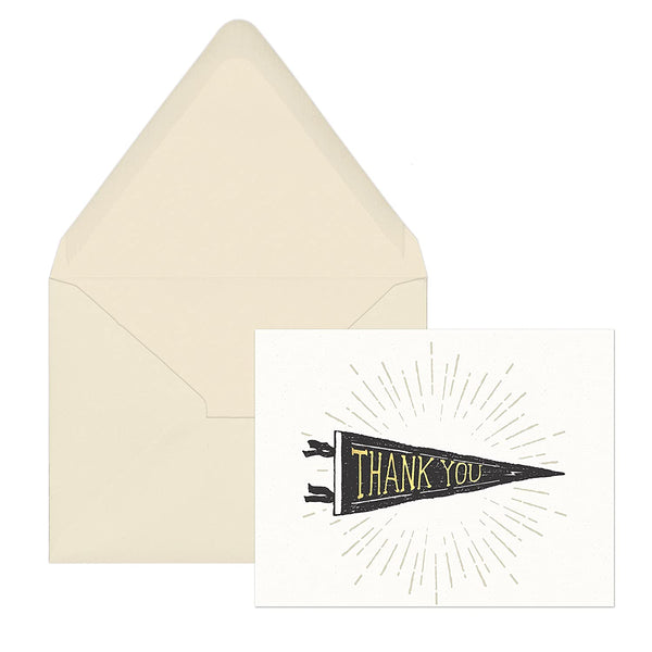 Pennant Thank You Cards (12 cards)