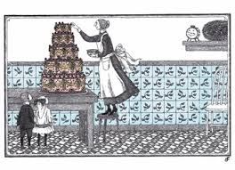 """Happy Birthday!"" Cake Edward Gorey Card"