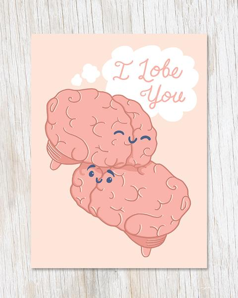 """I Lobe You"" Love Card"