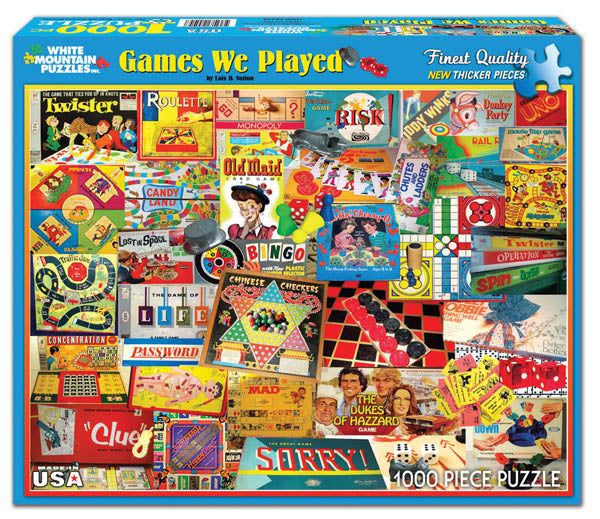 """Games We Played""  Jigsaw Puzzle (1000 piece)"
