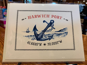 Harwich Port Anchor Card