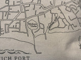 "Harwich Port Map Tea Towel (26"" x 26"")"