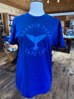 Adult Whale Tail - Blue Tee (unisex)