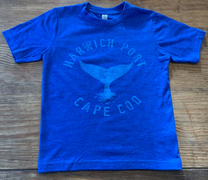 Youth Whale Tail Harwich Port - True Royal Blue Tee (unisex)
