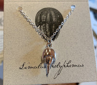 Silver Horseshoe Crab Necklace