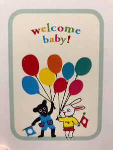 Welcome Baby! Bear & Bunny Card