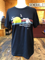 Harwich Port Sailboat - Black Tee (unisex)