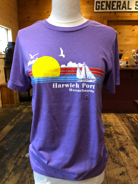 Harwich Port Sailboat - Purple Tee