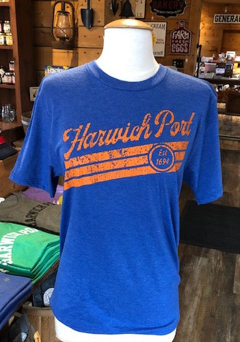 "Harwich Port ""Established 1694"" - Blue Shirt (unisex)"