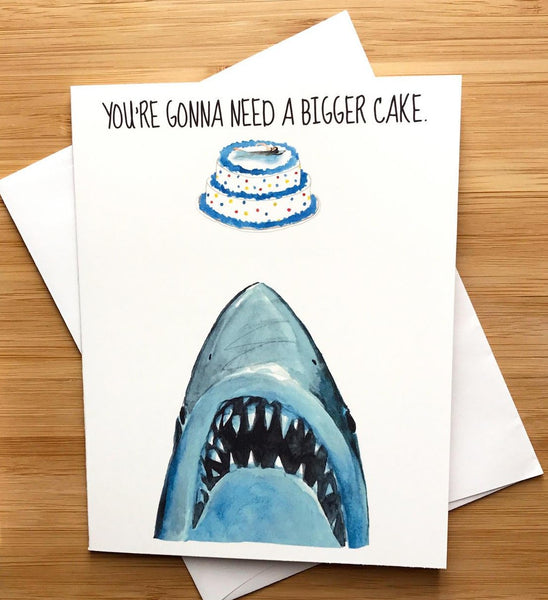 Jaws Birthday Card