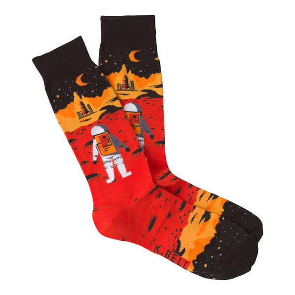 Red Planet Men's Crew Socks