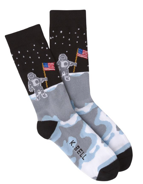 """Man on the Moon"" Men's Crew Sock"