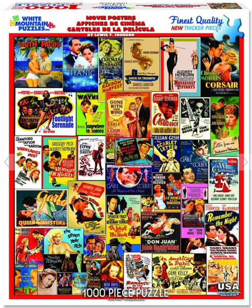 """Movie Posters"" Jigsaw Puzzle (1000 piece)"