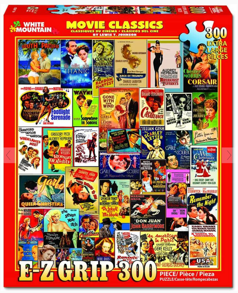 """Movie Classics"" Jigsaw Puzzle (300 'E Z Grip' pieces)"