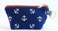 """Navy Anchor"" Change Purse"