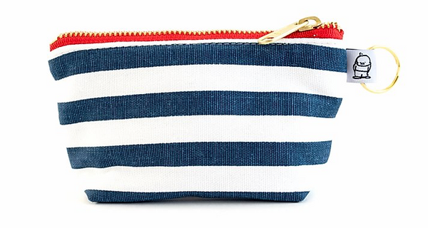 """Navy Stripe"" Change Purse"